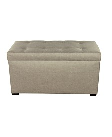 MJL Furniture Designs Angela Fabric Upholstered Storage Trunk