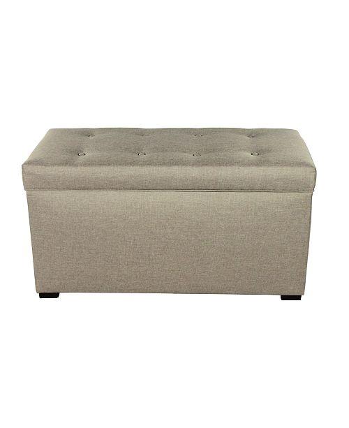 MJL Furniture Designs Angela Fabric Upholstered Storage Trunk