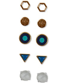 Lucky Brand Tri-Tone 6-Pc. Set Stud Earrings