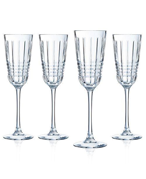 Cristal d'Arques Cristal D' Arques Rendez-vous Flute - Set of 4