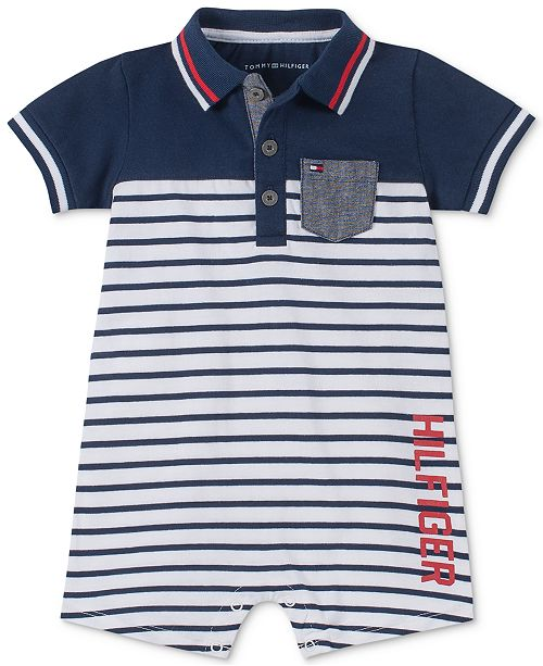 Tommy Hilfiger Baby Boys Striped Romper