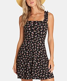 Billabong Juniors' Floral-Print Fit & Flare Dress