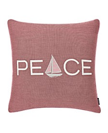 Nautica Peaceful Sailing Square Pillow