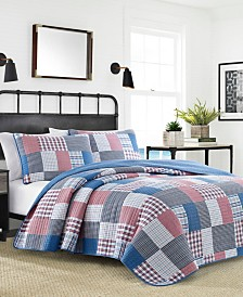 Nautica Seaside Patchwork Twin Quilt Set