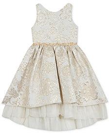 Rare Editions Little Girls Brocade Dress