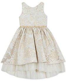 Rare Editions Little Girls Brocade Dress