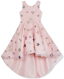 Rare Editions Little Girls Embroidered Stars Dress