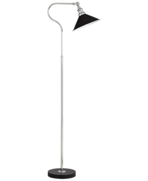 Kathy Ireland Downbridge Black Painted Floor Lamp