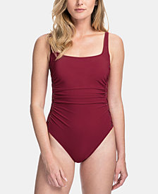 Profile By Gottex Side Lace One-Piece Swimsuit