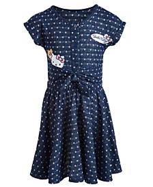 Little Girls Polka-Dot Patch Dress, Created for Macy's