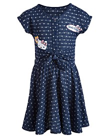 Hello Kitty Little Girls Polka-Dot Patch Dress, Created for Macy's