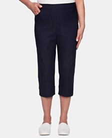 Alfred Dunner In The Navy Pull-On Capri Pants
