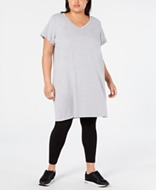 Calvin Klein Performance Plus Size Cotton T-Shirt Dress