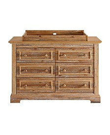 Beasley 6-Drawer Dresser with Topper