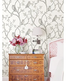 """Brewster Home Fashions Enchanted Forest Owl and Tree Wallpaper - 396"""" x 20.5"""" x 0.025"""""""