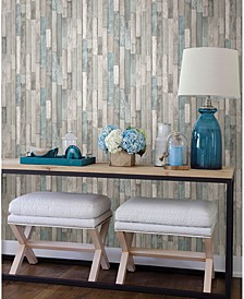 "Barn Board Thin Plank Wallpaper - 396"" x 20.5"" x 0.025"""