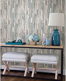 "Brewster Home Fashions Barn Board Thin Plank Wallpaper - 396"" x 20.5"" x 0.025"""