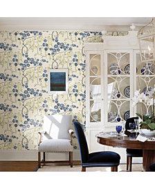 "Brewster Home Fashions Peony Tree Wallpaper - 396"" x 20.5"" x 0.025"""
