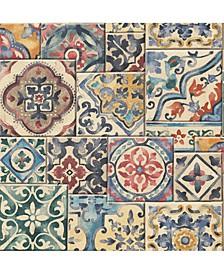 "Multi Marrakesh Tiles Wallpaper - 396"" x 20.5"" x 0.025"""