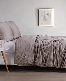 Crinkle Velvet King Comforter Set