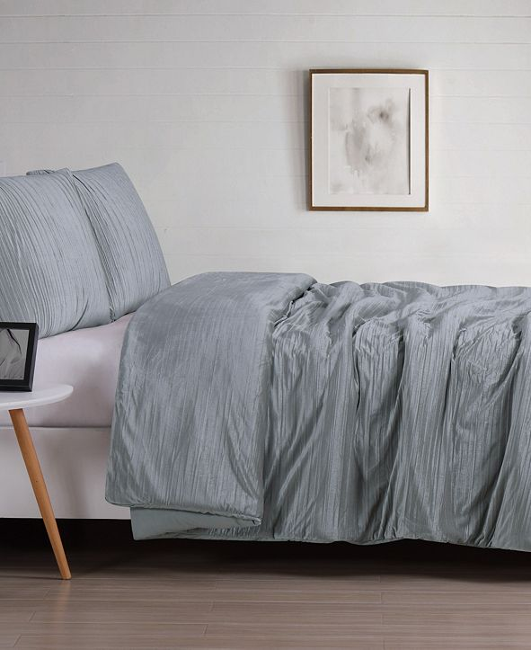 Christian Siriano New York Christian Siriano Crinkle Velvet King Duvet Set