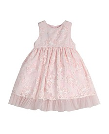 Laura Ashley Toddler and Little Girl's Sleeveless Embroidered Party Dress