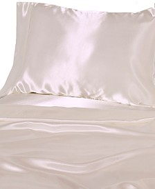 Luxury Satin Solid Twin Sheet Sets