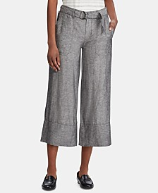 Lauren Ralph Lauren Belted Wide-Leg Pants