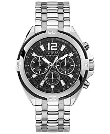 GUESS Men's Chronograph Surge Stainless Steel Bracelet Watch 46.5mm