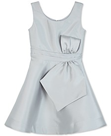 Big Girls Satin Bow-Front Dress
