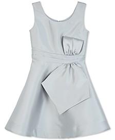 Big Girls Satin Bow-Front Dress