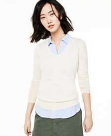 Charter Club V-Neck Cashmere Sweater, Created for Macy's
