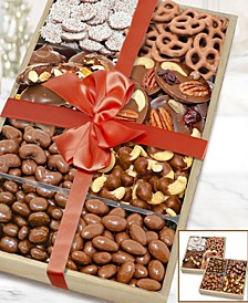 Milk Belgian Chocolate Covered Nut & Snack Gift Tray Set