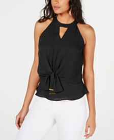 Thalia Sodi Tie-Front Halter Top, Created for Macy's