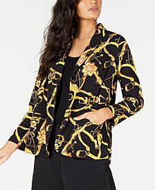 Animal Print Belted Blazer, Created for Macy's