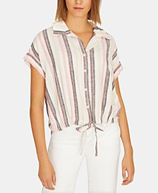 Borrego Striped Tie-Front Shirt