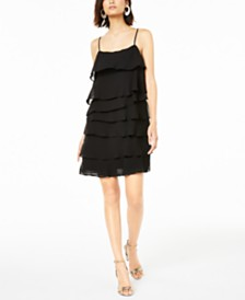 Bar III Layered-Ruffle Mini Dress, Created for Macy's