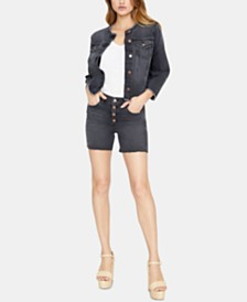 Sanctuary Fearless High-Rise Button-Fly Shorts