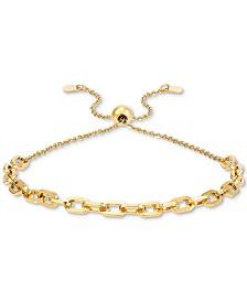 Italian Gold Forzatina Link Bolo Bracelet in 10k Gold