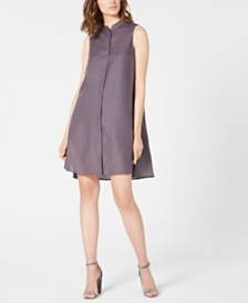Anne Klein Trapeze Sleeveless High-Low Dress