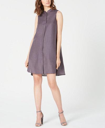Anne Klein Trapeze Sleeveless High-Low Dress