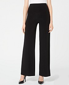 Wide-Leg Pull-On Pants