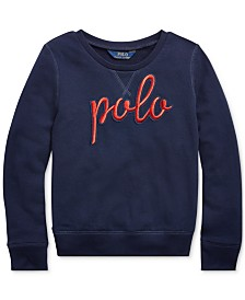 Polo Ralph Lauren Big Girls Logo Graphic Pullover