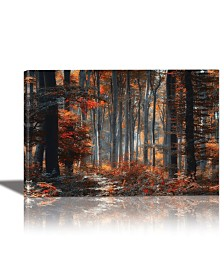 Eurographics Painting Forest Framed Canvas Wall Art