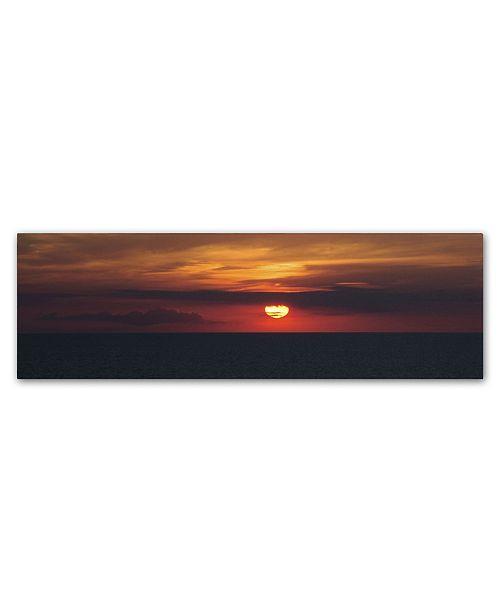 "Trademark Global Kurt Shaffer 'Classic Great Lake Sunset' Canvas Art - 10"" x 32"""