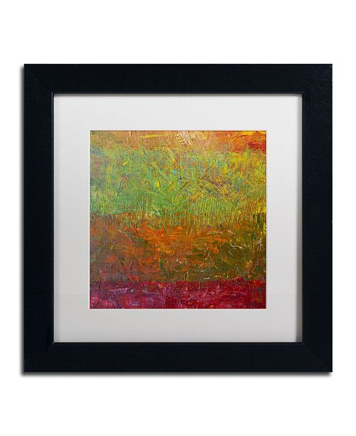 "Trademark Global Michelle Calkins 'Fallen Leaves' Matted Framed Art - 11"" x 11"""