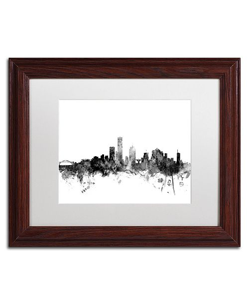 "Trademark Global Michael Tompsett 'Milwaukee WI Skyline B&W' Matted Framed Art - 11"" x 14"""