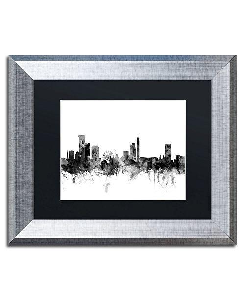 "Trademark Global Michael Tompsett 'Birmingham England Skyline B&W' Matted Framed Art - 11"" x 14"""