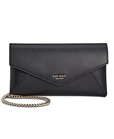 Sylvia Leather Chain Clutch