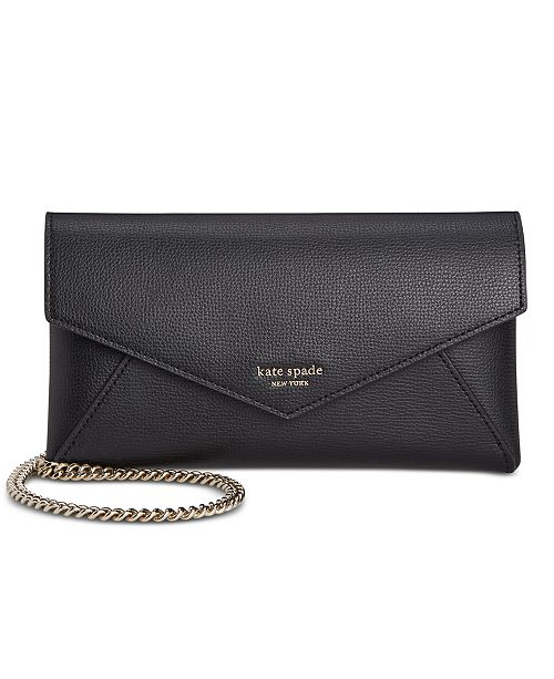 kate spade new york Sylvia Leather Chain Clutch